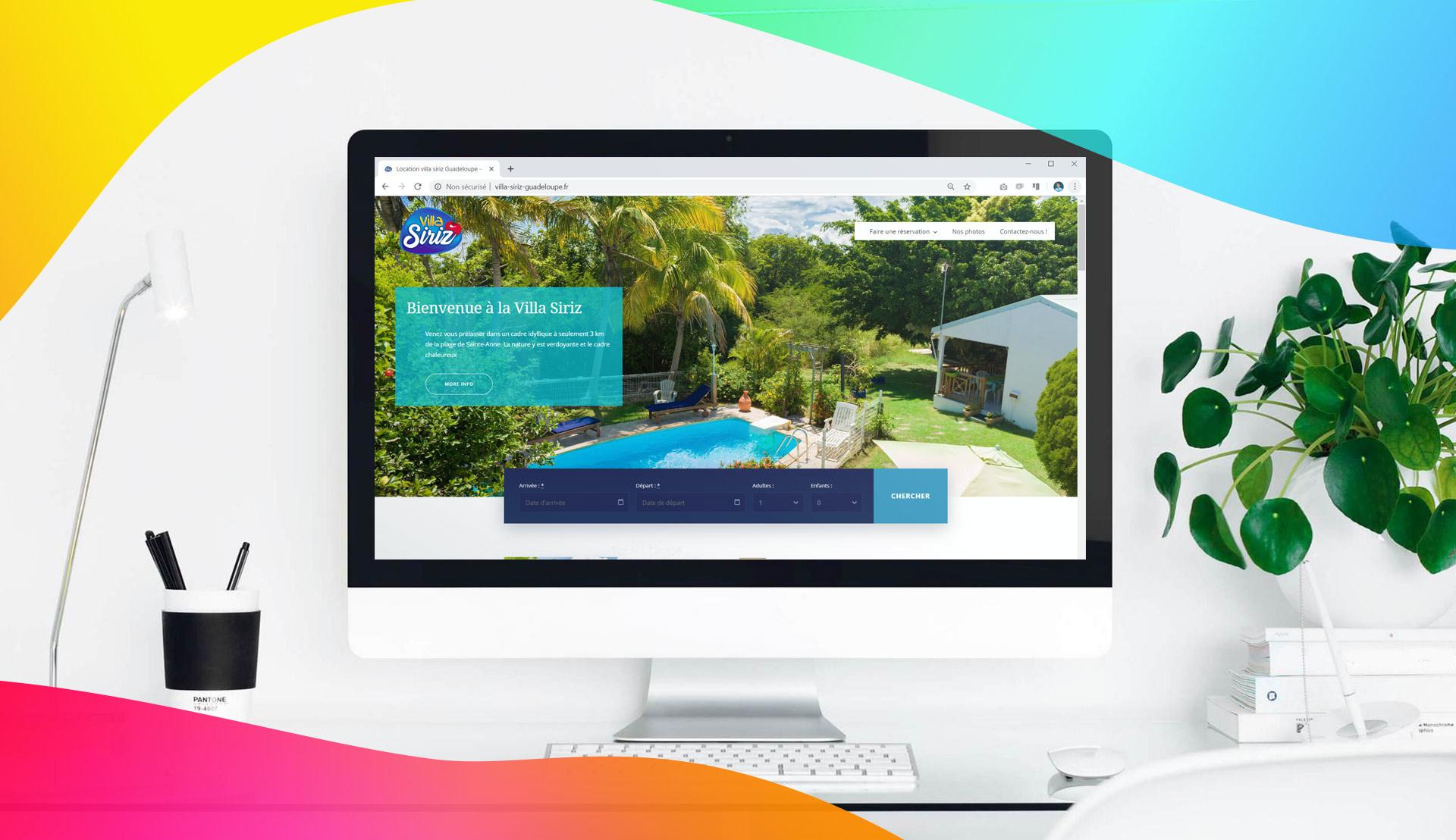 Un site internet pour Villa Siriz